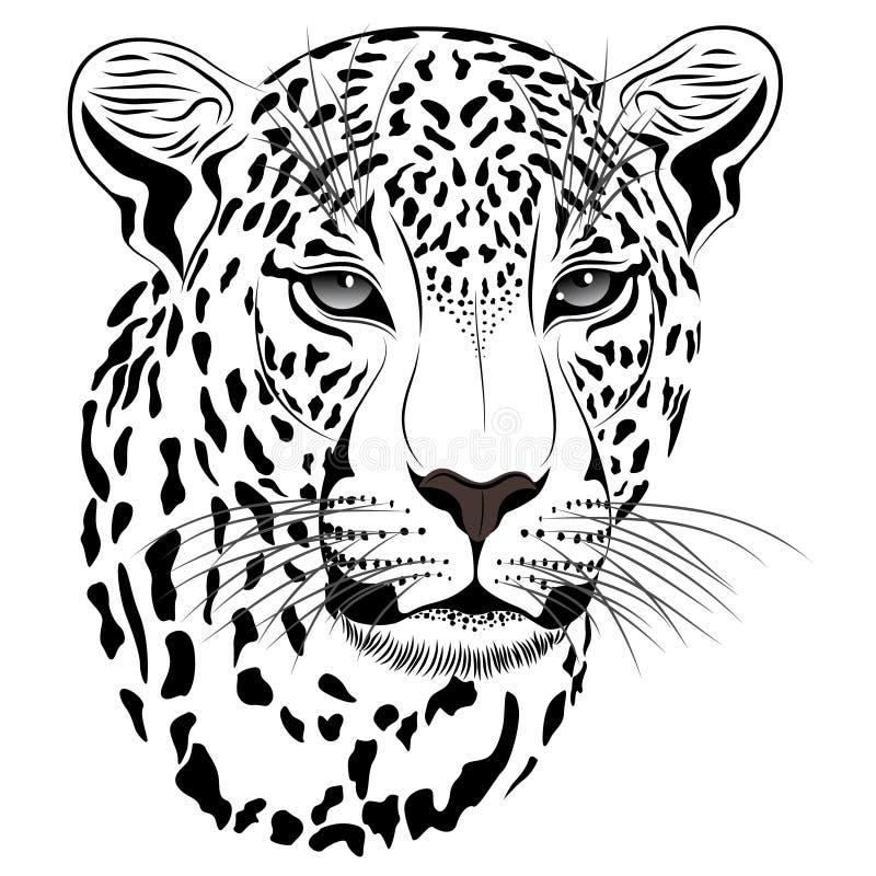 Leopardo, tatuaje ilustración del vector