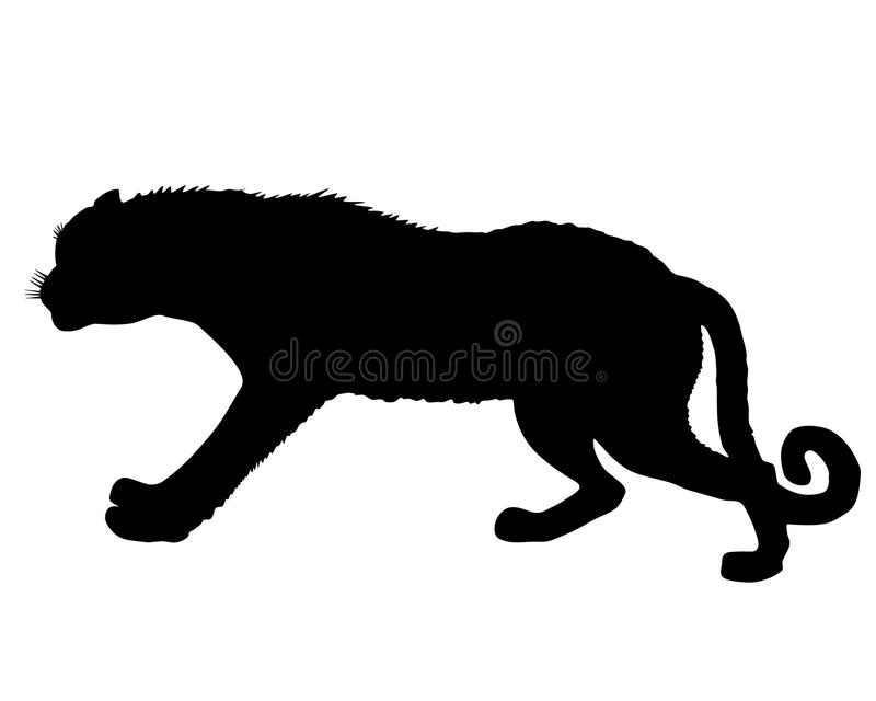 leopardsilhouette stock illustrationer