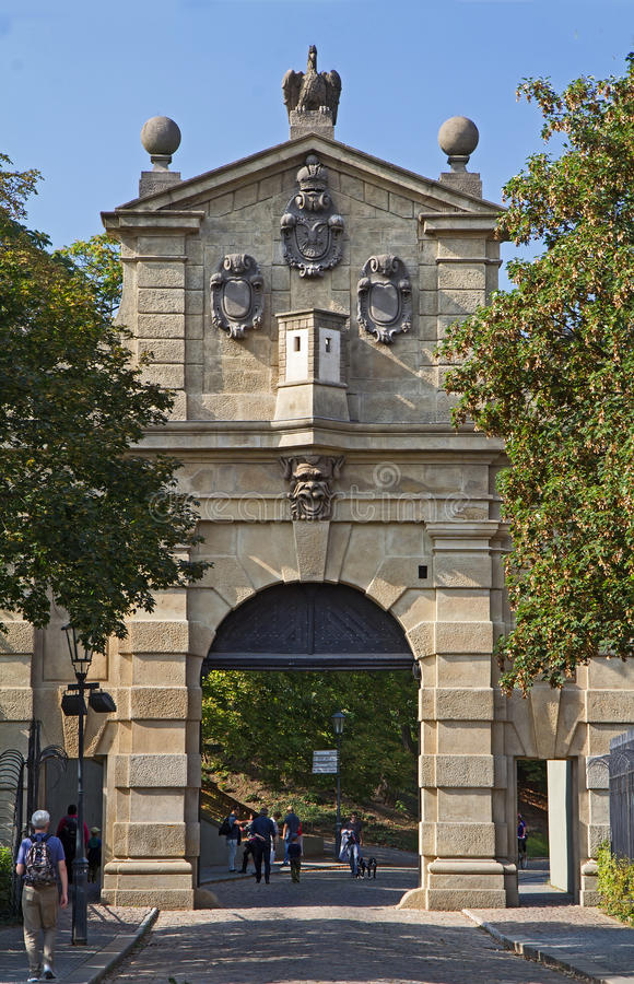 Leopold Gate dans Vysehrad, Prague photographie stock libre de droits