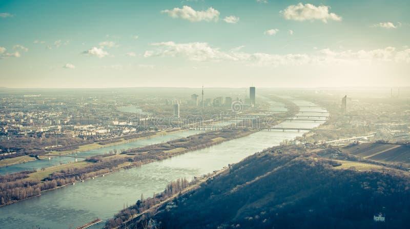 Leopoldsberg, Wien stockbilder