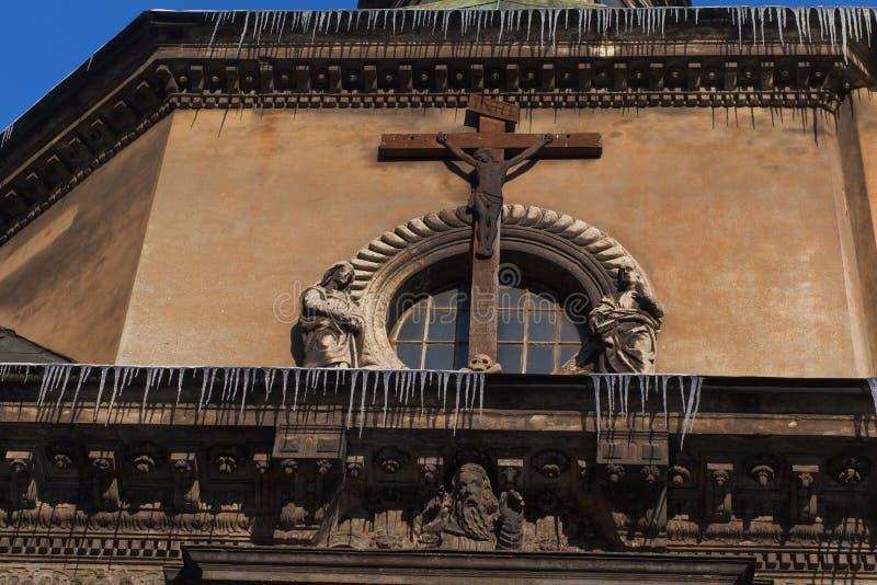 LEOPOLI, UCRAINA - 1° marzo 2018 Cappella della famiglia di Boim, centro storico di Leopoli fotografia stock