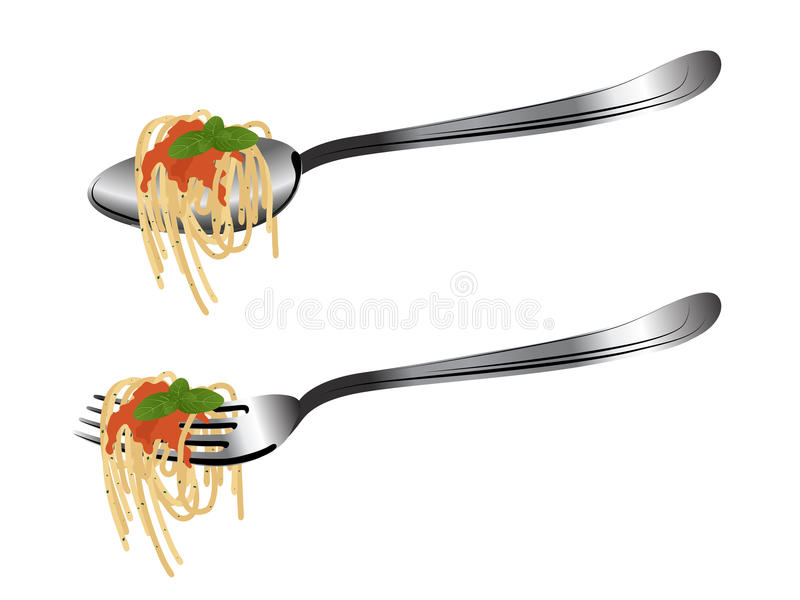 Lepel en vork royalty-vrije illustratie