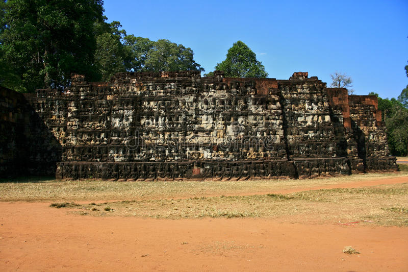 Leper King Terrace,Angkor royalty free stock photography