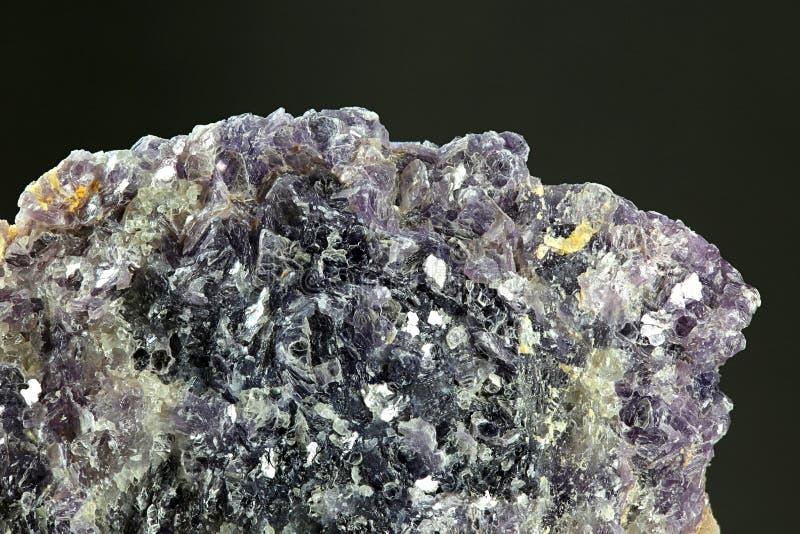 Lepidolite mineral de la mica de la mina del feldespato de Haapaluoma, Finlandia imagen de archivo