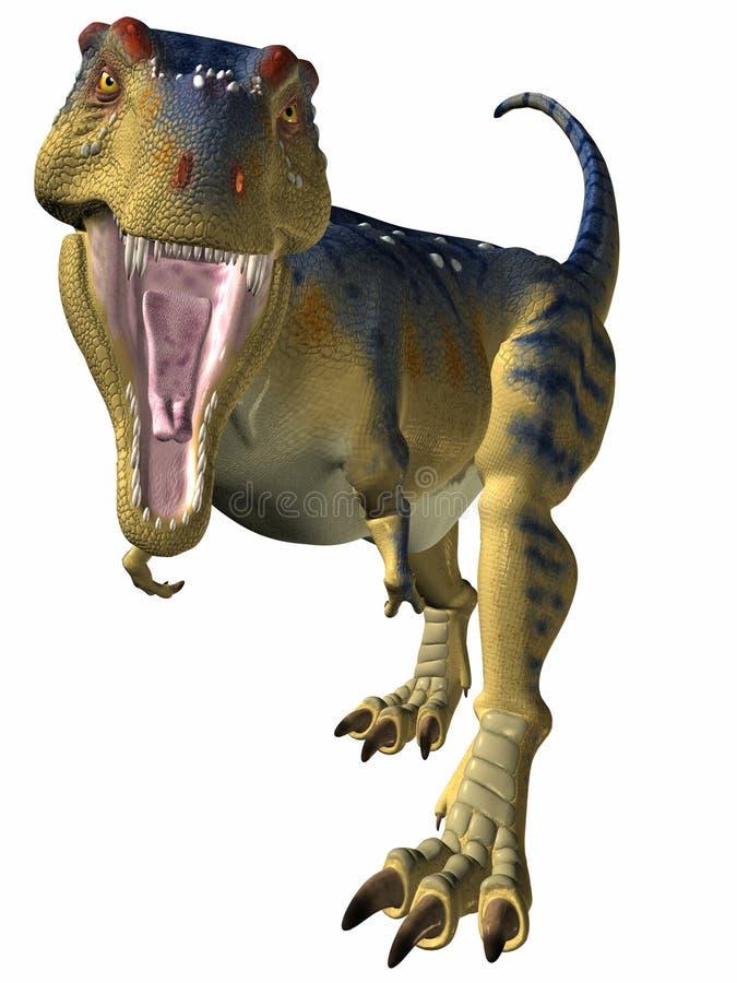 lepiej się tyrannosaurus zegarek ilustracja wektor