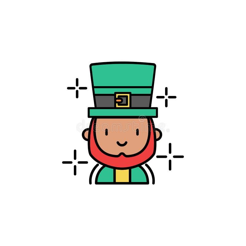 Leprechaun, εικονίδιο αγοριών Στοιχείο του εικονιδίου ημέρας του ST Patricks χρώματος Γραφικό εικονίδιο σχεδίου εξαιρετικής ποιότ ελεύθερη απεικόνιση δικαιώματος