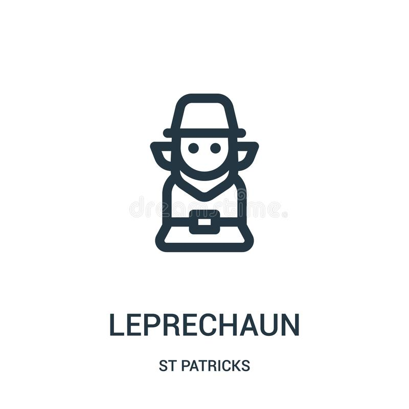 leprechaun διάνυσμα εικονιδίων από τη συλλογή του ST patricks Η λεπτή γραμμή leprechaun περιγράφει τη διανυσματική απεικόνιση εικ απεικόνιση αποθεμάτων