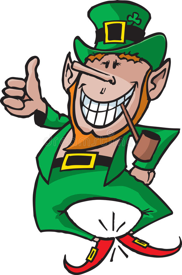 Download Leprechaun 1 stock vector. Image of patrick, heel, holiday - 10781289