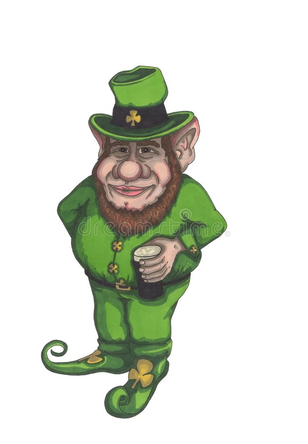a leprechaun stock illustration