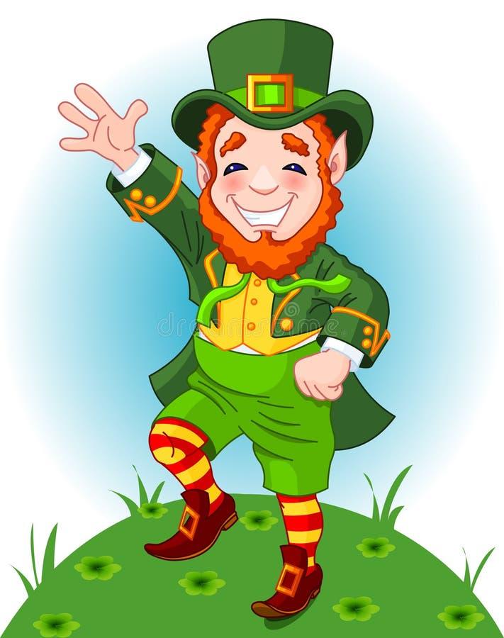 Leprechaun afortunado da dança ilustração royalty free