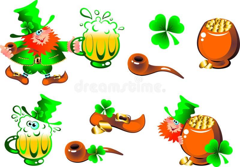 Download Leprechaun Artful Gnome Set Stock Vector - Illustration: 13087828