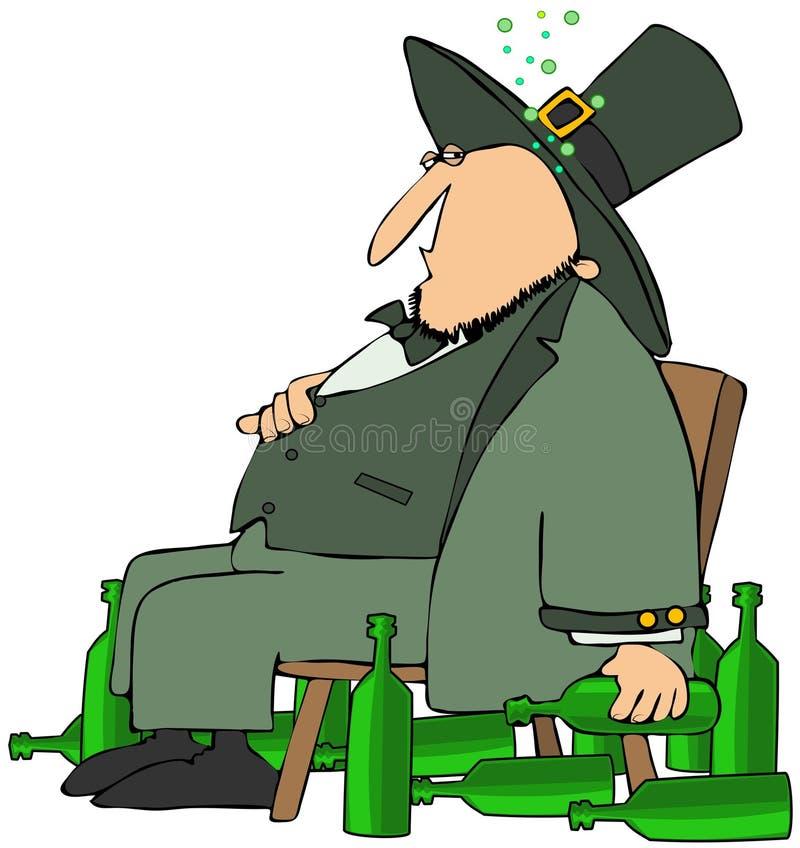 Leprechaun borracho libre illustration