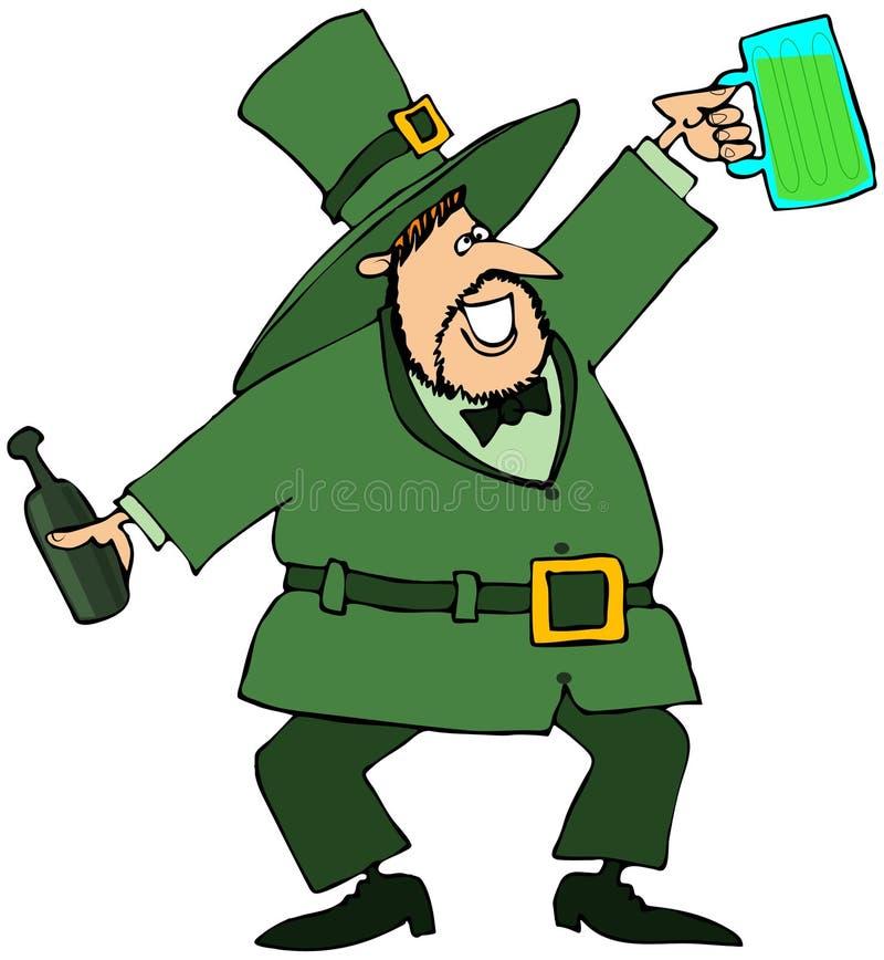 Leprechaun con la cerveza verde libre illustration