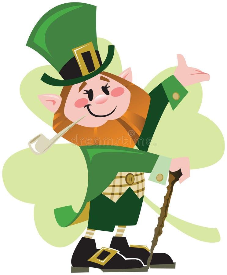 Leprechaun do dia do St. Patrick ilustração do vetor
