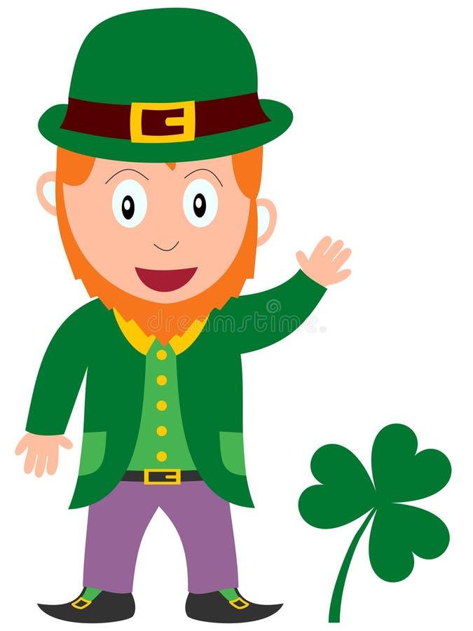 Leprechaun do dia do St. Patrick ilustração royalty free
