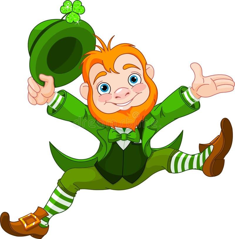 Leprechaun feliz ilustração stock