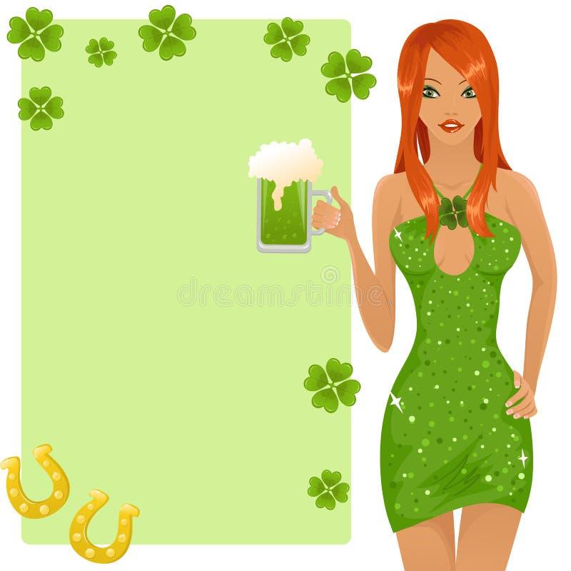 Leprechaun girl stock illustration