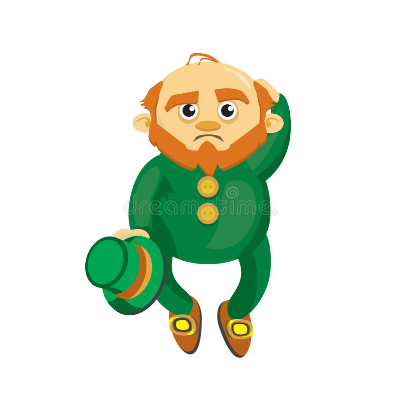 Leprechaun in a green suit stock image
