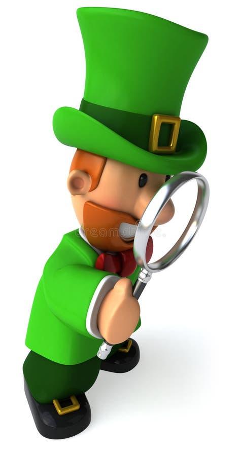 Leprechaun irlandês ilustração royalty free
