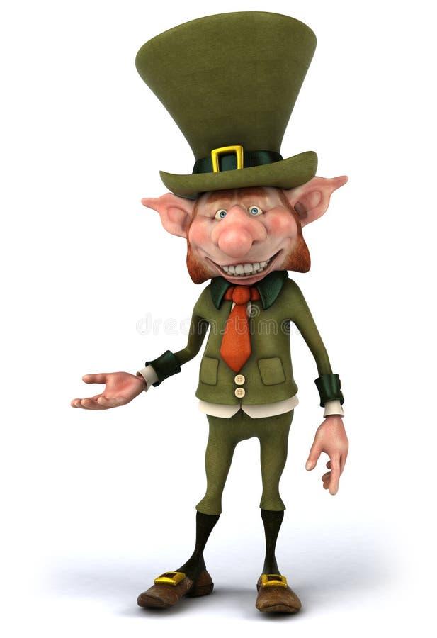 Leprechaun irlandês ilustração stock