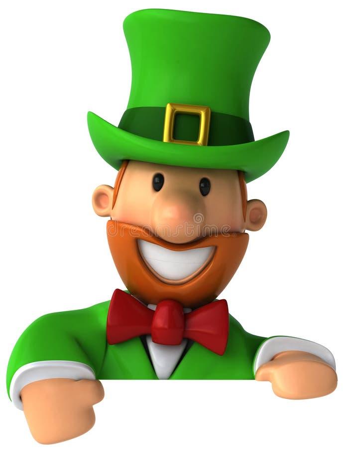 Leprechaun irlandese illustrazione vettoriale