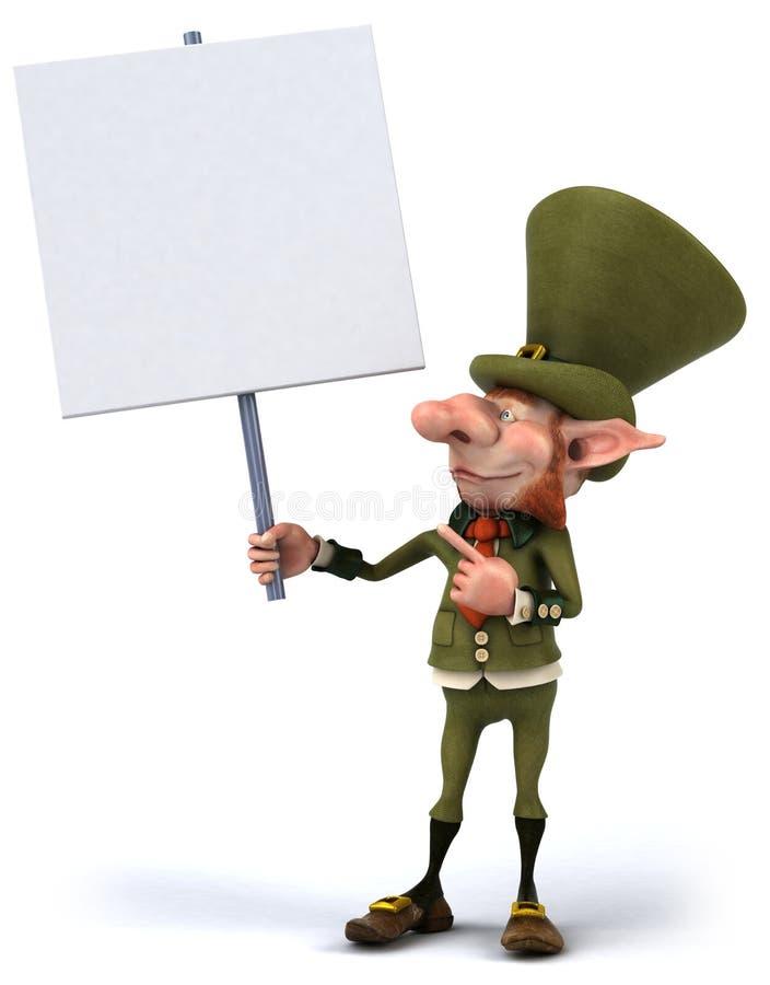 Leprechaun irlandese royalty illustrazione gratis
