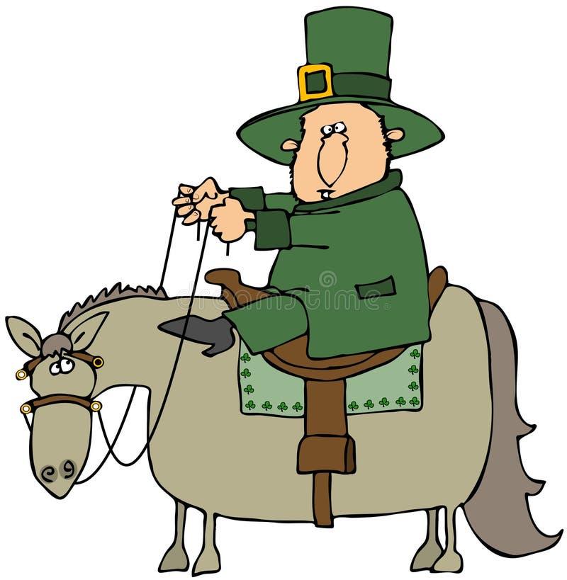 leprechaun końska jazda royalty ilustracja