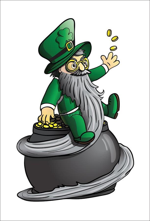 Leprechaun na garnku złoto zdjęcie royalty free