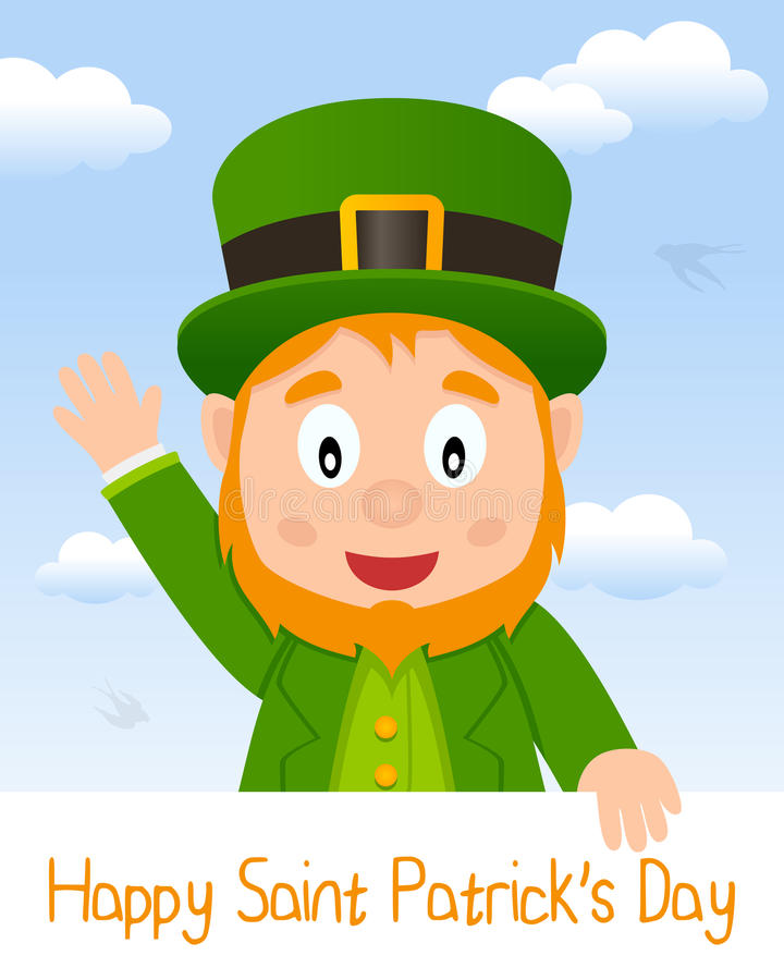 Leprechaun Patrick s Day Greeting Card