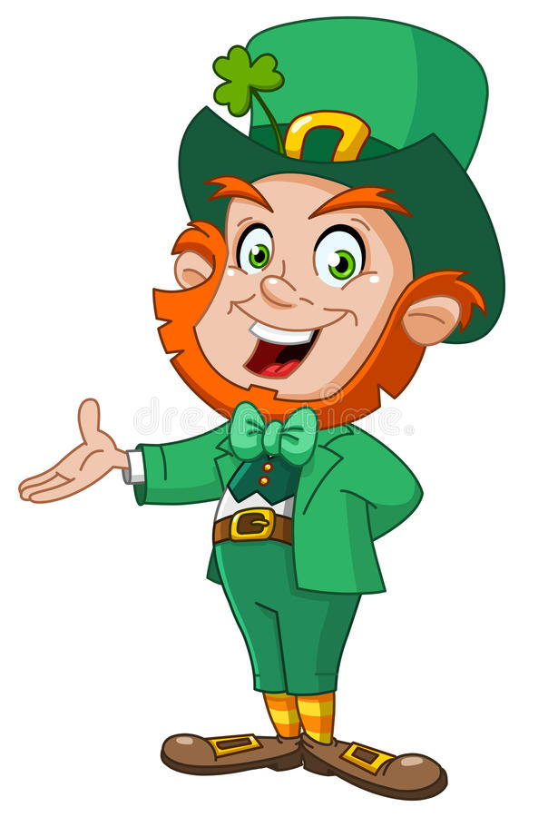 Leprechaun presenting royalty free illustration