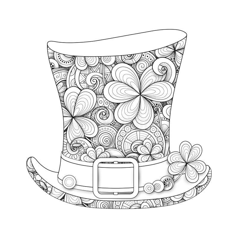 Leprechaun rocznika Odgórnego kapeluszu ilustracja ilustracja wektor