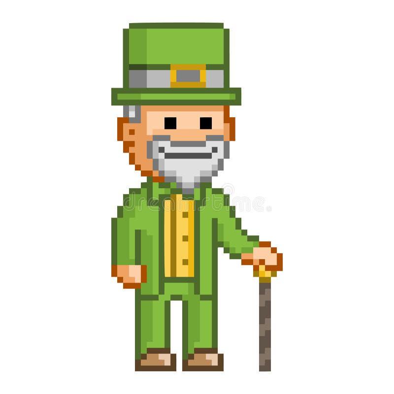 Leprikon drôle de pixel illustration stock