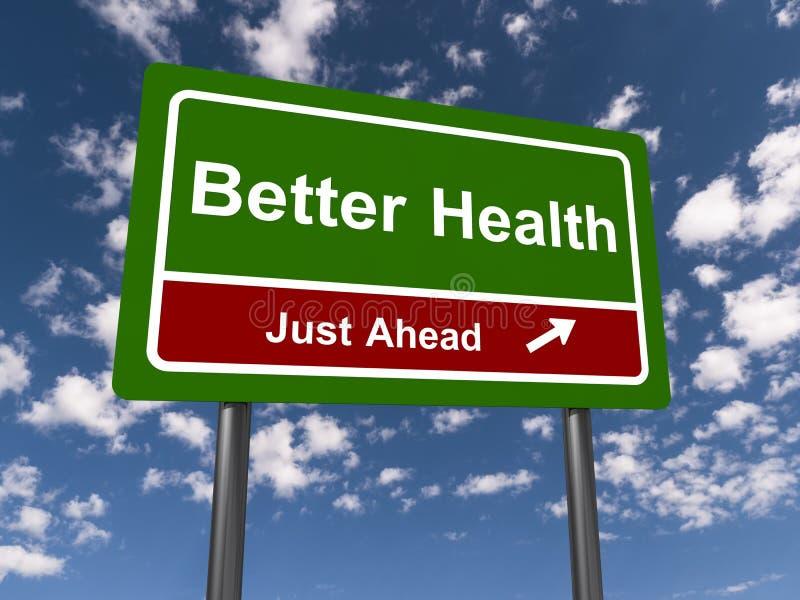Lepszy zdrowie właśnie naprzód royalty ilustracja