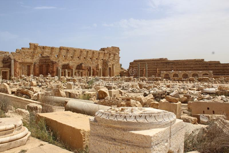 Leptis Magna Ruins fotos de archivo libres de regalías