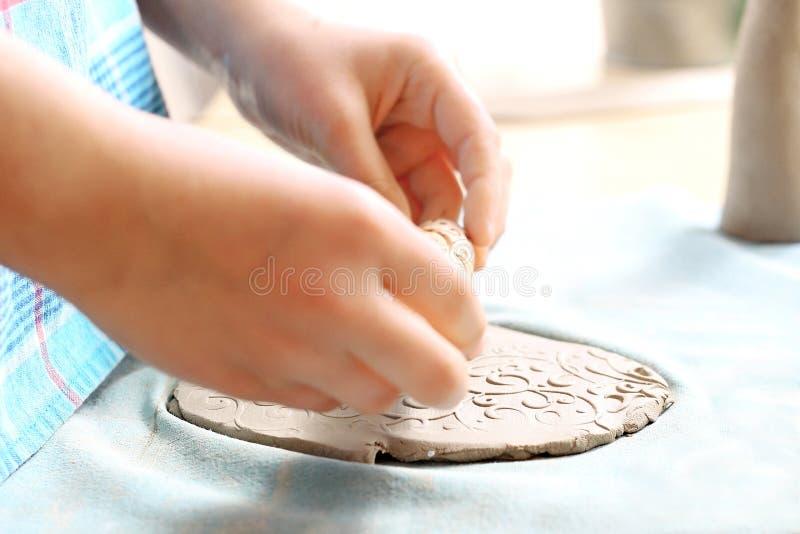 Lera för keramik arkivfoto