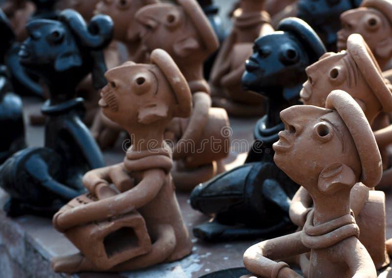 Lera handcrafts av Bengal, Indien arkivbilder