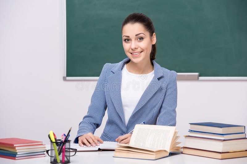 leraar stock afbeelding