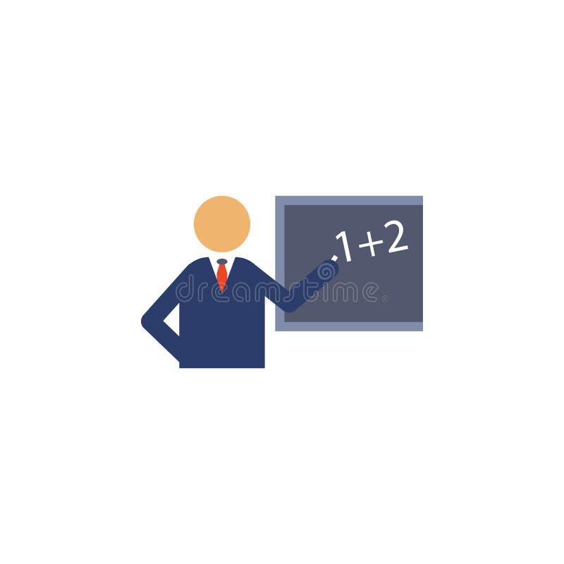leraar bij het bord gekleurde pictogram Element van schoolpictogram voor mobiel concept en Web apps Gedetailleerde leraar bij het royalty-vrije illustratie