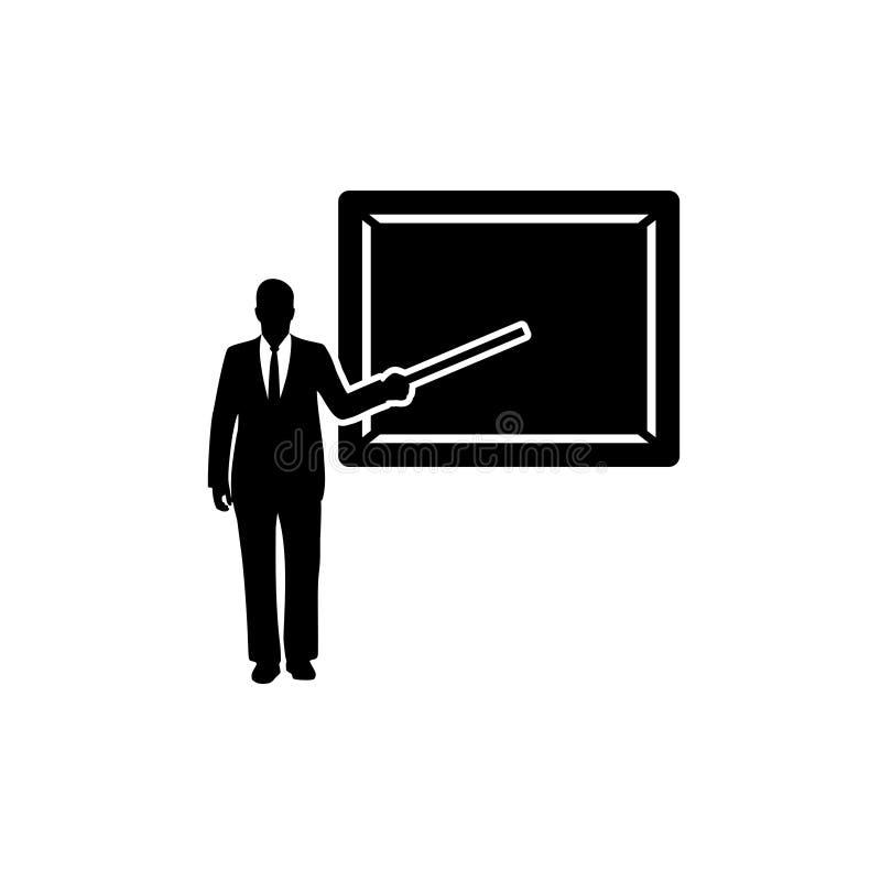 Leraar At Chalkboard Icon royalty-vrije illustratie