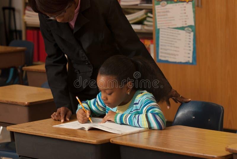 Leraar een student stock foto's