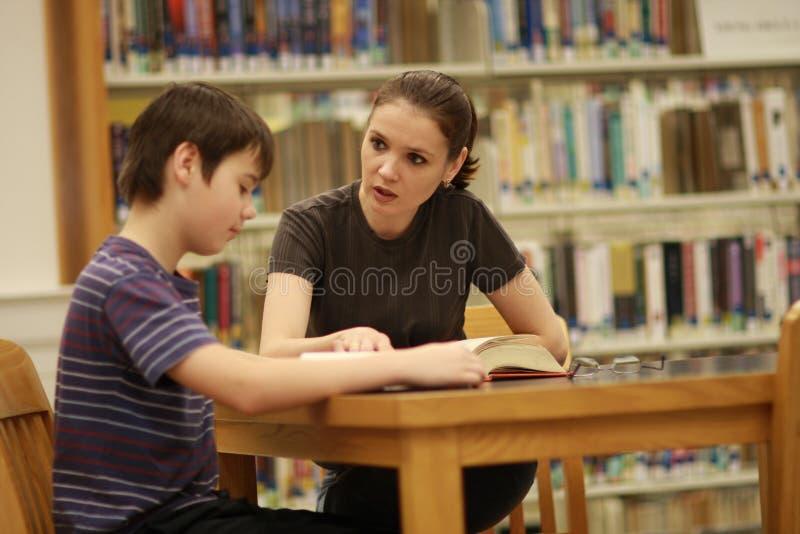 Leraar en de student royalty-vrije stock foto