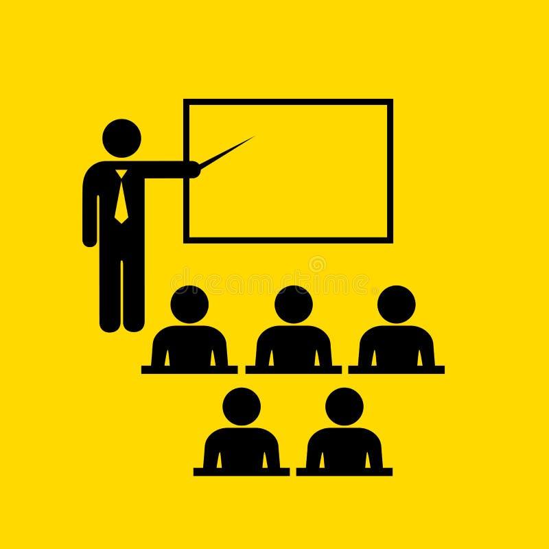Leraar en publiekssymbool vector illustratie
