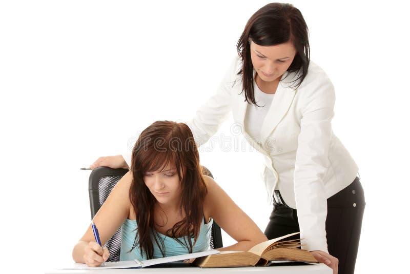 Leraar en student royalty-vrije stock foto