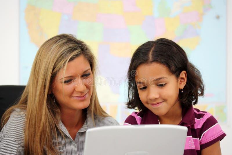 Leraar en Student stock fotografie