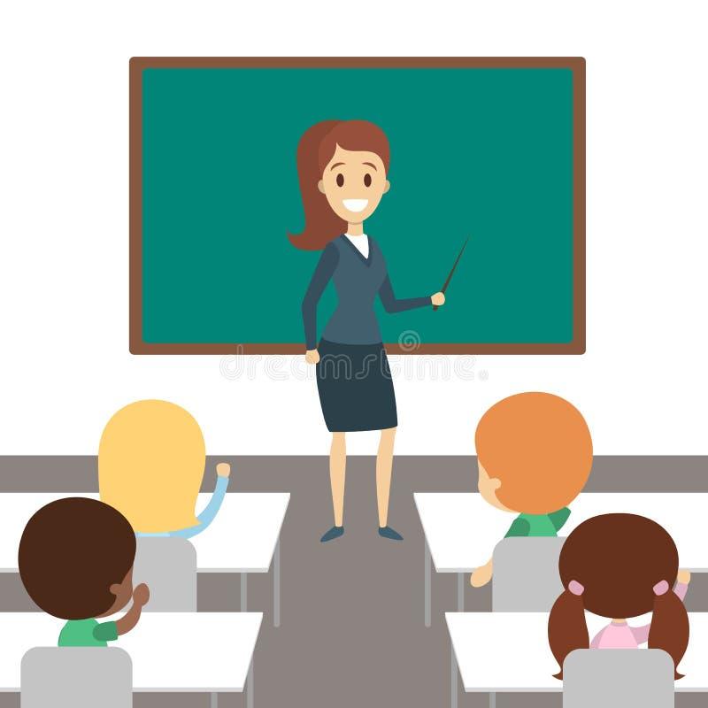 Leraar in klaslokaal royalty-vrije illustratie