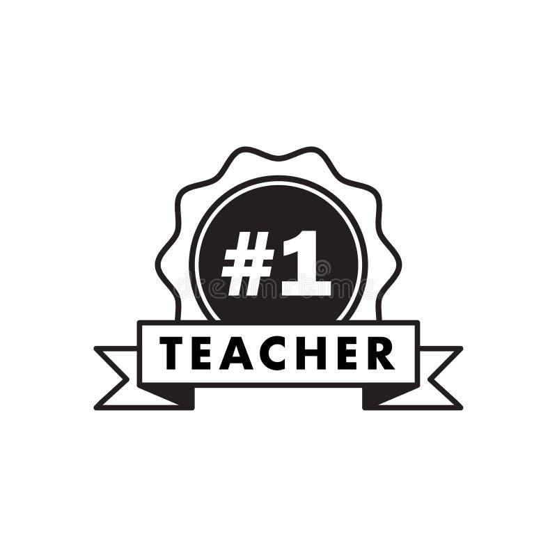 Leraarsaantal  De gelukkige affiche die van het de hand van letters voorziende ontwerp van de lerarendag professionele hoogste ui vector illustratie