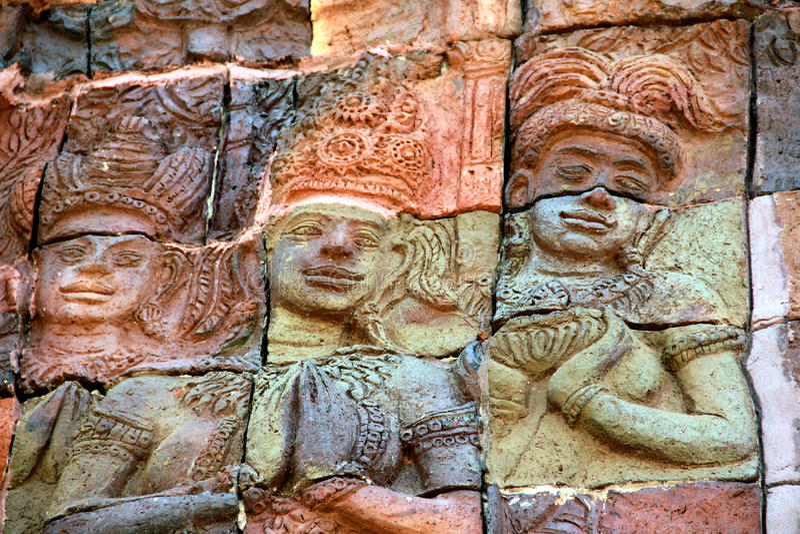 leragudskulptur royaltyfria foton