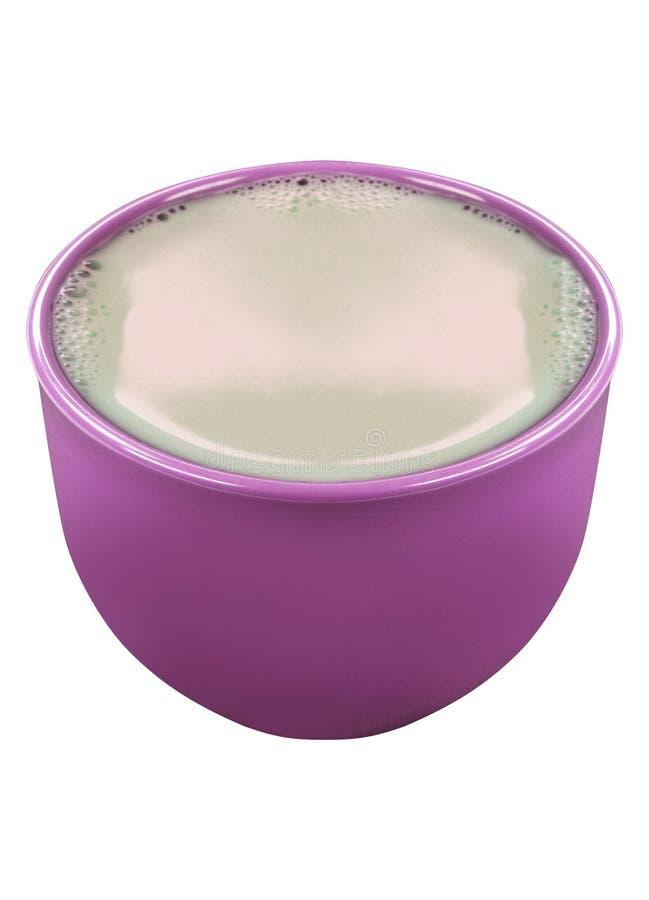 Lerakrukan med mjölkar isolerat royaltyfri bild
