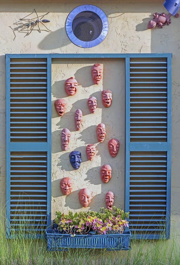 Leraskulptur för mänsklig framsida arkivfoton