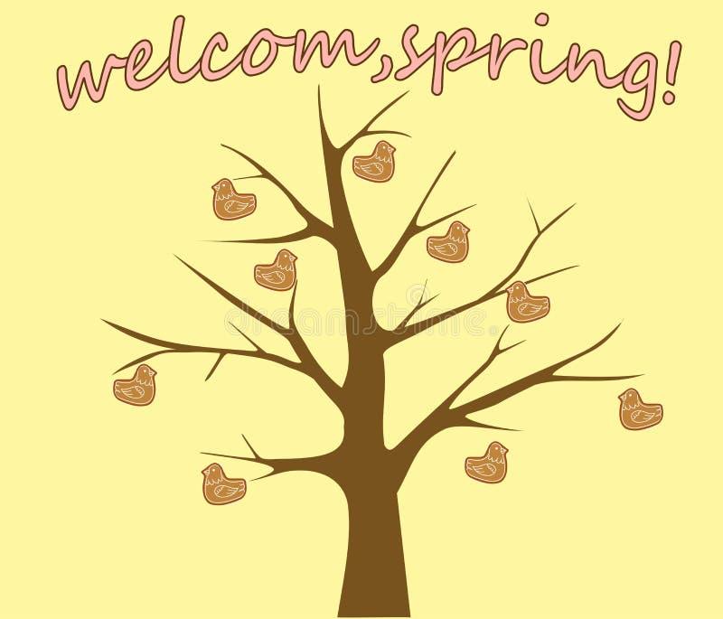Lerchen-dfeiertag des Frühjahrstreffens der Slawen vektor abbildung